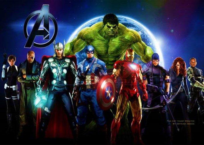 paidiko party me thema Avengers