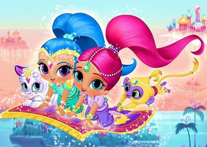 paidiko party me thema shimmer and shine